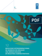Movilidad intergeneracional de ingresos en Uruguay