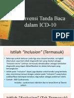Konvensi Tanda Baca dalam ICD-10
