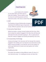 strategies for teaching ela and bitmoji