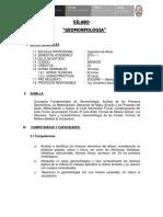 SILABO - GEOMORFOLOGIA UNAM