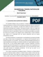 La juventud latinoamericana, tension participacion y violencia