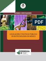Legislación en biotecnología-México 2009