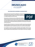 Comunicado Bolsa de Comercio de Córdoba