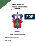 Unidad II_Clase de Criminalistica_Sabados 10 a 11 25_Romero Alvarez Jonathan Israel
