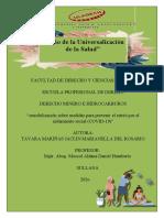 """""""sensibilización sobre medidas para prevenir el estrés por el aislamiento social (COVID-19)"""""""