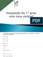 Inequação do 1º grau com uma variável
