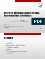 IETE-COE - PPT - Overview of Cybersecurity Threats, Vunerabilities and Attacks