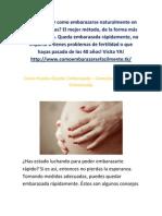 Como Puedes Quedar Embarazada - Consejos Para Quedar Embarazada