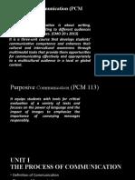 Purposive Communication - Ep 1