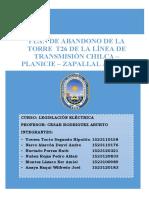Plan de Abandono de Linea de Transmision 500kV Chilca Carabayllo
