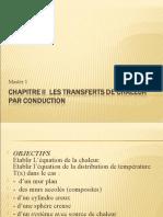 Chap II  Les transferts de chaleur par conduction