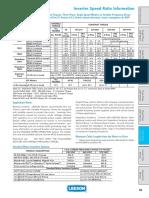 Inverter Speed Ratio Information