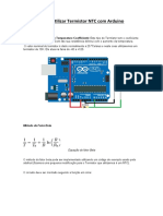 Como utilizar Termistor NTC com Arduino II