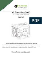 GN1750D Generator User Manual