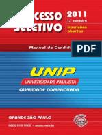 Manual do candidato UNIP capital2011