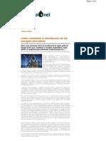 Centralización de distribución de energías renovables