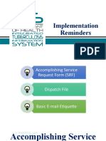 ITIS Implementation    Reminders-Users