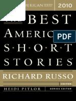 Best American Short Stories 2010 Excerpt