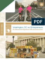 Washington, DC vs. Entrepreneurs