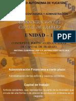 Unidad 1-Concepto y políticas financieras de capital de trabajo