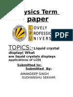 liquid crystal display term papaer presentation