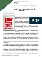 20150127 Suicide français  l'erreur de diagnostic de Zemmour - Guillaume FAYE