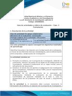Guía de actividades y rúbrica de evaluación - Fase 2 - Formulación