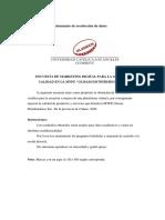 ENCUESTA A EMPRESA OLISAM DISTRIBUIDORES SAC - TALLER DE INVESTIGACIÓN II