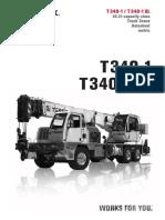 Grua Terex placa wnw 050.  T-340-1