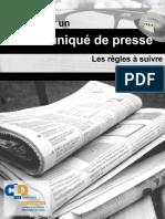 Rédiger un communiqué de presse