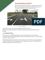 7 TYPES OF ROAD MARKINGS as per IRC