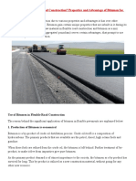 BITUMEN USED IN ROAD CONSTRUCTION