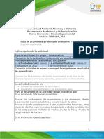 Guia de actividades y rúbrica de evaluación - Tarea 3 - Diseño experimental