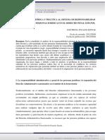 Zugaldia Espinar Aproximaciòn teòrica y pràctica añl sistema de responsabilidad criminal de las persoonas jurìdicas dpespañol