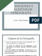 1.Origenes y Conceptos Demografia