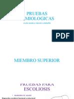 Pruebas de semiología