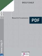 DELF DALF Manuel Examinateur Correcteur 2011