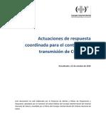 Actuaciones de respuesta coordinada para el control de la transmisión de COVID-19
