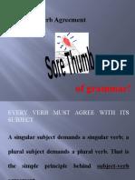 HS-001A subject-verb agreement