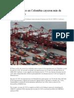Importaciones en Colombia cayeron más de 27