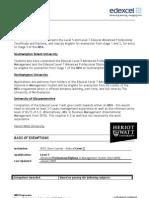 MBA progression on APDMS