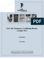 Give the Taxpayer a Lobbying Break, a Little TLC