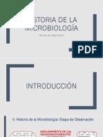 periodo de observacion - historia de microbiologia