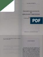 Progrès des sciences et réflexion chrétienne - J.-M. Moretti