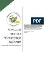 MANUAL DE PUESTOS Y DESCRIPCION DE FUNCIONES