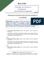 Personerías Alzamientos Banco de Chile