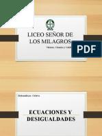 ECUACIONES Y DESIGUALDADES.