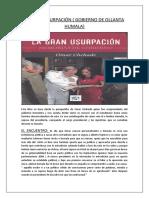 LA GRAN USURPACIÓN ( GOBIERNO DE OLLANTA HUMALA).docx