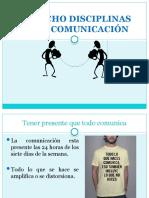 LAS OCHO DISCIPLINAS DE LA COMUNICACIÓN