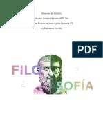 Resumen Qué es la filosofía - Ricardo de Jesús Aguilar Ledesma 3°C